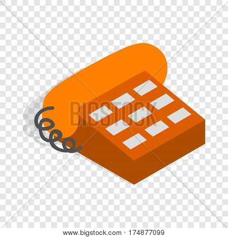 Phone handset isometric icon 3d on a transparent background vector illustration
