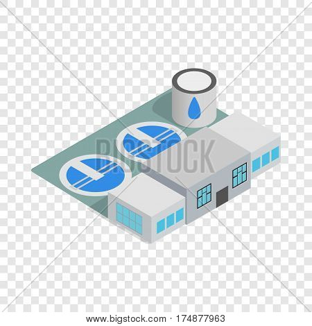 Water treatment building isometric icon 3d on a transparent background vector illustration