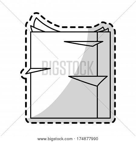 ream of paper office supplies icon image vector illustration design