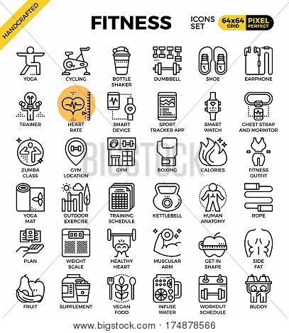 Fitness Line Icon Set