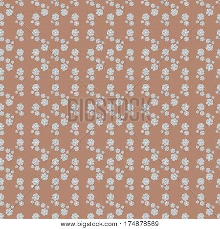 Simple floral pattern. Seamless background. Vector illustration.