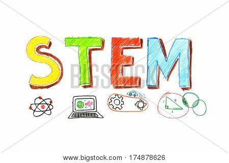 Illustration Of Stem Word Banner