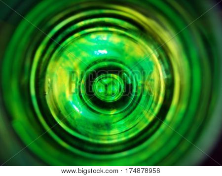 green and yellow colors mixed into water