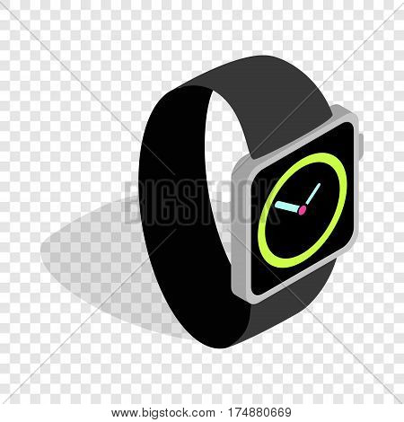 Wristwatch isometric icon 3d on a transparent background vector illustration