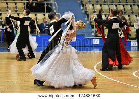 Orenburg, Russia - 12 November 2016: Girl And Boy Dancing.