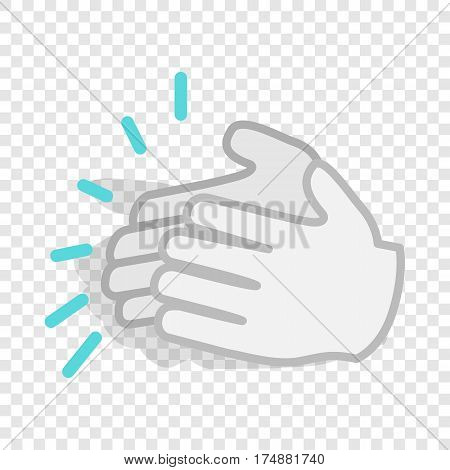 Applause, clapping hands isometric icon 3d on a transparent background vector illustration