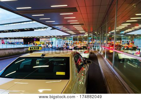 Taxi Station At The Airport Cologne Bonn
