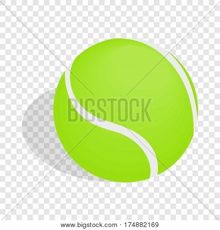 Green tennis ball isometric icon 3d on a transparent background vector illustration