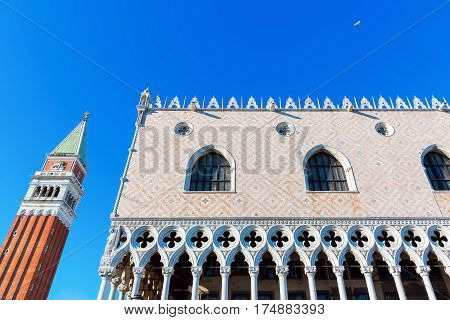 Doges Palace In Venice, Italy