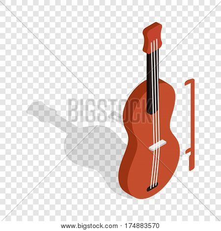 Violin isometric icon 3d on a transparent background vector illustration