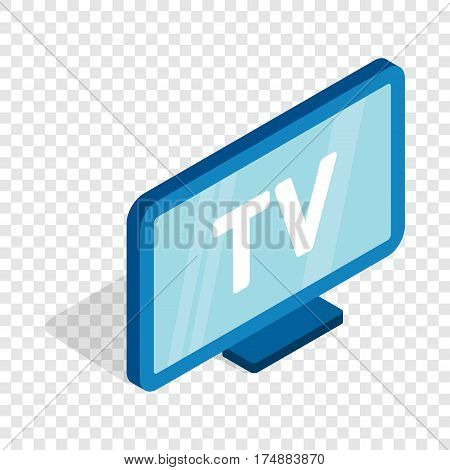 TV screen isometric icon 3d on a transparent background vector illustration