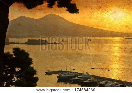 Naples Harbor (canvas)