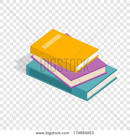 Stack of books isometric icon 3d on a transparent background vector illustration