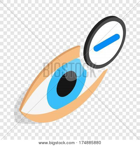 Vision myopia isometric icon 3d on a transparent background vector illustration