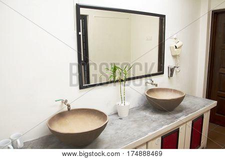 Retro Bath Room And Decoration In Hotel