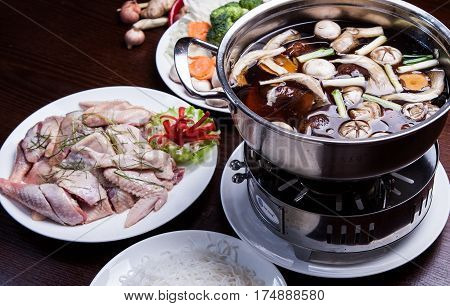Special hot pot of chicken in china