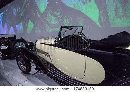 White And Black 1928 Bugatti Type 43 By Figoni