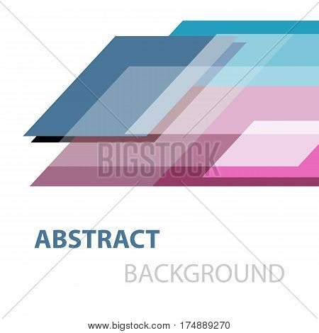 Abstract geometric overlapping on white background, stock vector