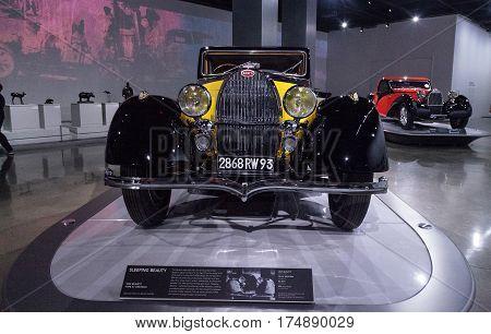 Yellow And Black 1935 Bugatti Type 57 Ventoux