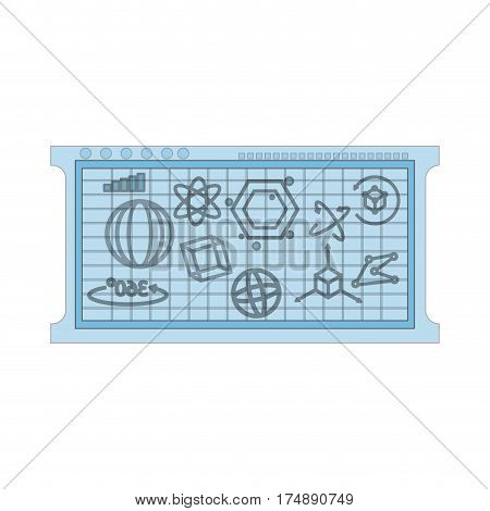 mathematical calculations on blue board icon image vector illustration design