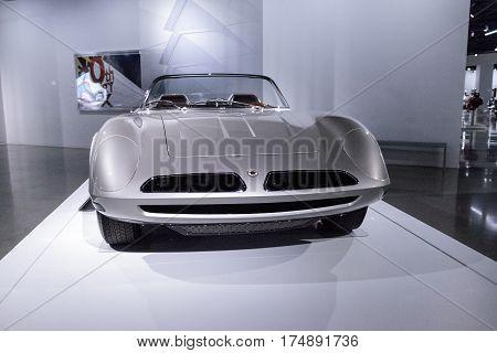 Silver 1966 Bizzarrini 5300 Spyder Si Prototype