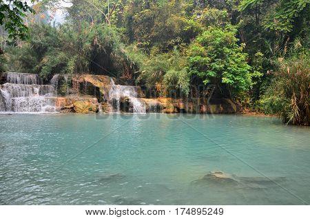 Tat Kuang Si Waterfalls In Luang Prabang, Laos