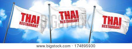 thai restaurant, 3D rendering, triple flags