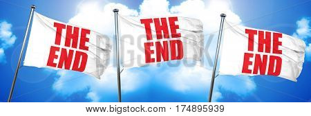 the end, 3D rendering, triple flags