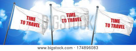 time to travel, 3D rendering, triple flags