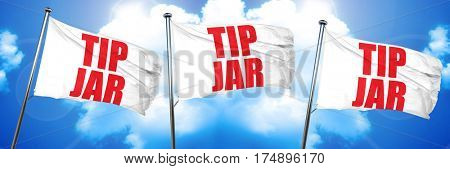 tip jar, 3D rendering, triple flags