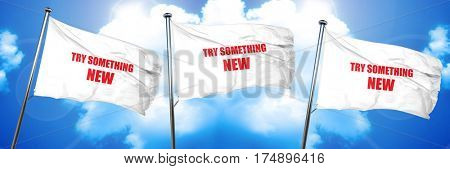 try something new, 3D rendering, triple flags