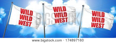 wild wild west, 3D rendering, triple flags