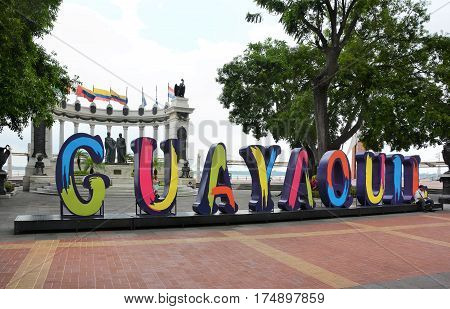 Malecon 2000 Sign