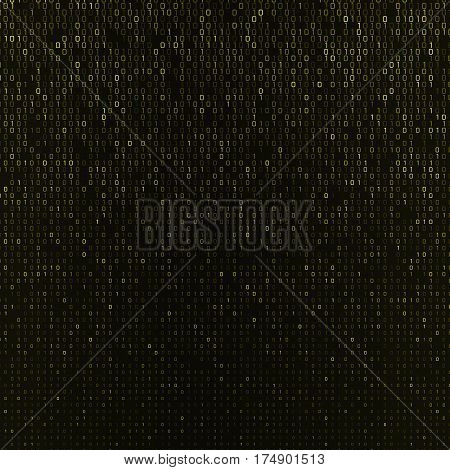 Vector abstract background with numbers one and zero on a dark background. Suitable for web backgrounds wallpaper and presentations.