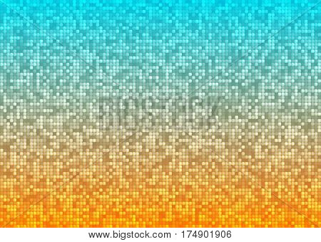 Vector abstract bright mosaic gradient orange blue background . Suitable for wallpaper web background and presentations. EPS10.