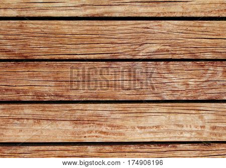 Orange wood background. Natural wood texture with horizontal lines. Wooden background for banner. Timber texture closeup. Horizontal wooden planks of floor backdrop photo. Natural material for banner