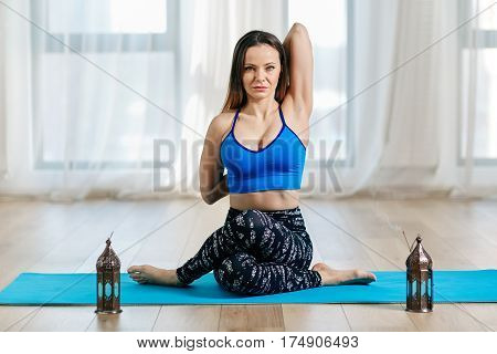 Yoga Trainer In Gomukhasana