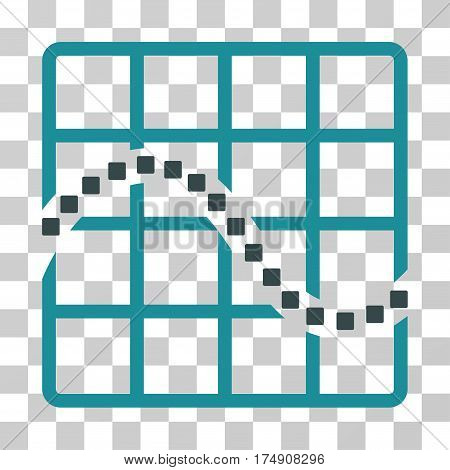 Function Chart icon. Vector illustration style is flat iconic bicolor symbol soft blue colors transparent background. Designed for web and software interfaces.