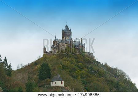 Empire castle of Cochem on the Mosel in Germany.