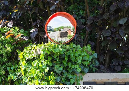 Control mirrors and monitoring mirrors or traffic mirrors on a public road.