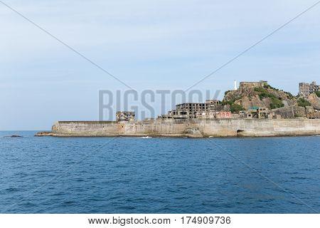 Battleship Island in Nagasaki city