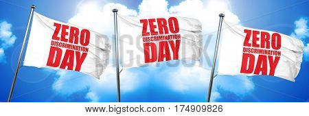 zero discrimination day, 3D rendering, triple flags