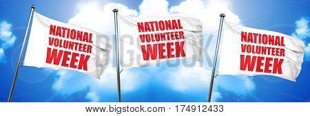national volunteer week, 3D rendering, triple flags