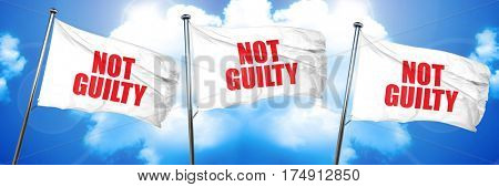 not guilty, 3D rendering, triple flags