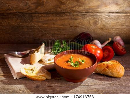 Bowl Of Minestrone Vegetable Soup