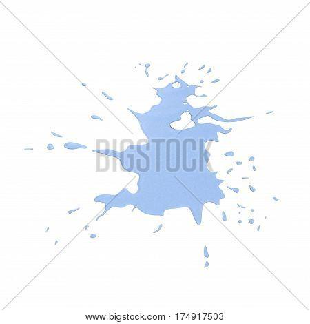 Spilled Liquid on white background. 3D illustration