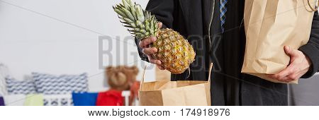 Person Holding The Pineapple