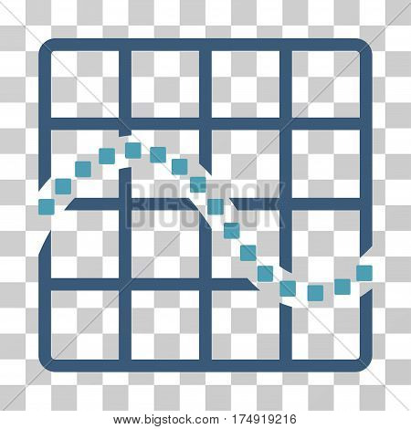 Function Chart icon. Vector illustration style is flat iconic bicolor symbol cyan and blue colors transparent background. Designed for web and software interfaces.