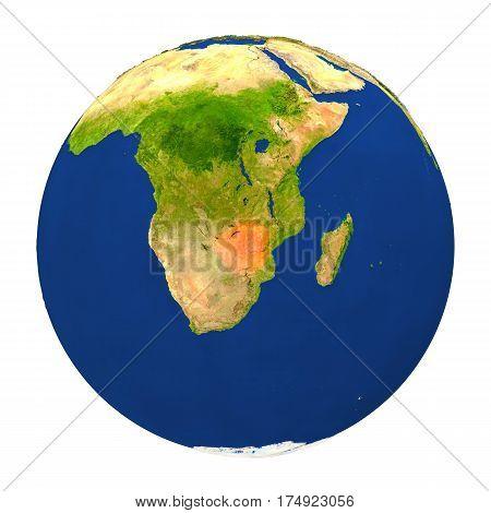Zimbabwe Highlighted On Earth
