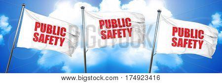 public safety, 3D rendering, triple flags